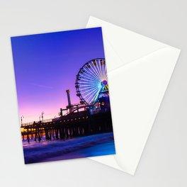 Santa Monica purple sunset Stationery Cards