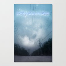 Midnight magick with title Canvas Print