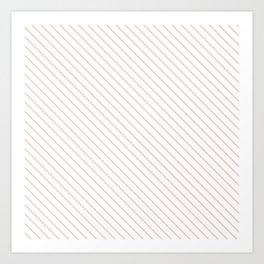 Pale Dogwood Stripe Art Print