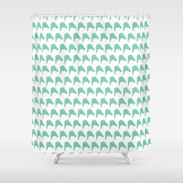 Faceted Green Horses Shower Curtain