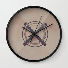 Vintage ceiling pattern of Montserrat Monastery Wall Clock