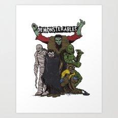 The Demonsterables Art Print