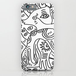 Graff Black and White Cool Non Sense Monsters  iPhone Case