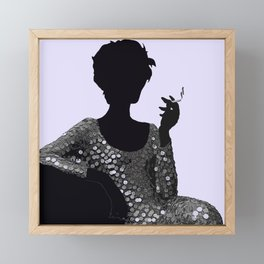 Woman Femme Fatale Luna 1960 Framed Mini Art Print