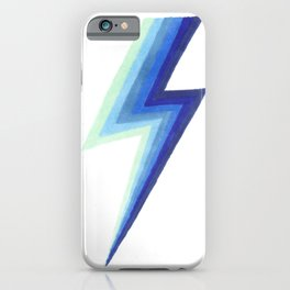 Blue Bolts iPhone Case
