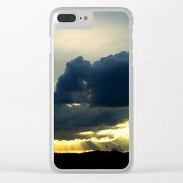 Coucher de soleil sur les moulins à vent Clear iPhone Case