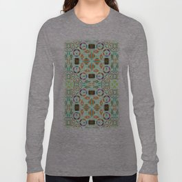 """Seamless pattern in the style of """"printed circuit board"""" Long Sleeve T-shirt"""