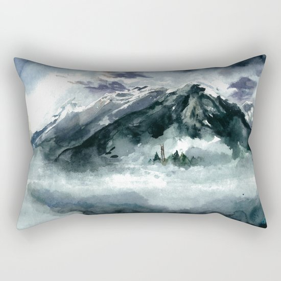 Foggy Rectangular Pillow
