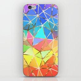 Rainbow geometric #10 iPhone Skin