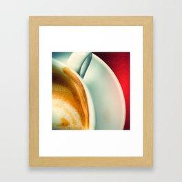 Coffee addiction Framed Art Print