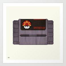 Nostalgia in a Super Nintendo Cartridge Art Print