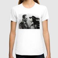 casablanca T-shirts featuring FRANKENSTEIN IN CASABLANCA by Luigi Tarini