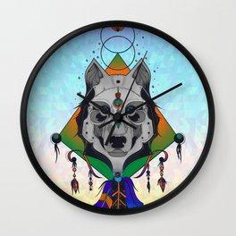 Wolf Shaman Wall Clock