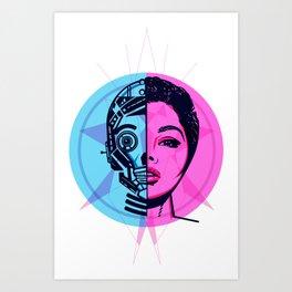 Robogirl#1 Art Print