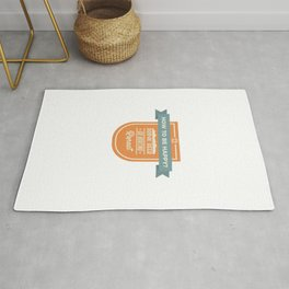 Be Happy Drink Beer Go Boating Design Rug