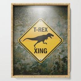 T-Rex Crossing Serving Tray