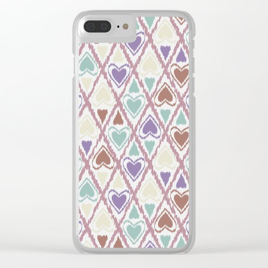 Favorite pattern . Brown and purple . Clear iPhone Case