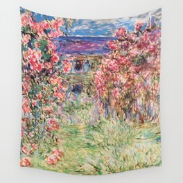 "Claude Monet ""House among the Roses"", 1917 - 1919 Wall Tapestry"