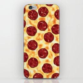 Pepperoni Pizza Pattern iPhone Skin