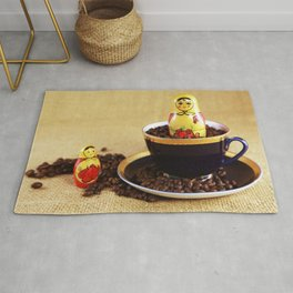 Russian coffee kitchen image Rug