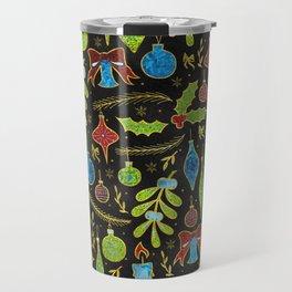 Fun Colorful Glitter Christmas pattern Travel Mug