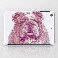 bulldog iPad Cases featuring Bulldog by Ahmad Mujib