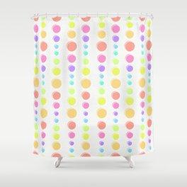Rainbow Pastel Dots Pattern Shower Curtain