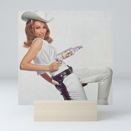 Vodka Martini - Julie Newmar Cowgirl - When I say Bloody Mary...Alcoholic Beverages Vintage Poster Mini Art Print