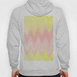 Geometrical blush pink yellow watercolor ikat pattern Hoody