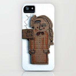 the sad cardboard girl iPhone Case