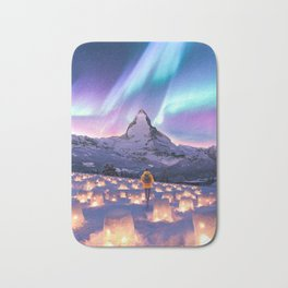 Snow Lanterns Bath Mat