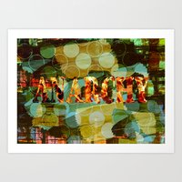 anarchy Art Prints featuring anarchy by laika in cosmos