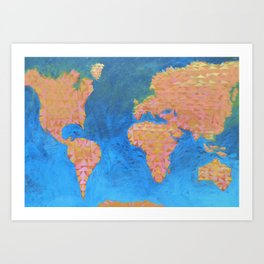 Continental Drift Art Print