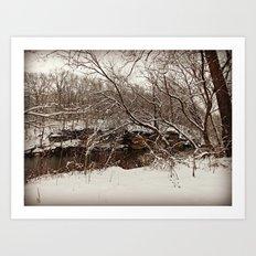 Snowy Creek View  Art Print