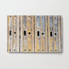 Rusty excavator caterpillar Metal Print