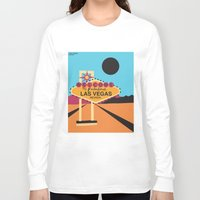 las vegas Long Sleeve T-shirts featuring Welcome to Las Vegas by Geryes