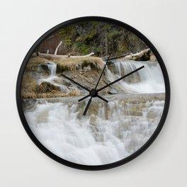 Paulina Creek Waterfall In Oregon Wall Clock
