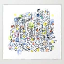 NYC colours Art Print