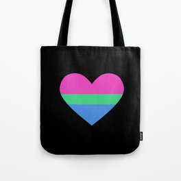 poly heart Tote Bag