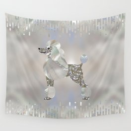 Luxury Pearl and Abalone Poodle Wall Tapestry