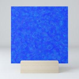 Cobalt Blue Cloud Texture Mini Art Print