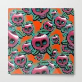 Cute Skull Apple Metal Print