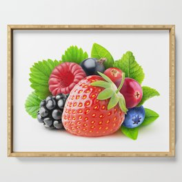 Fresh berries Serving Tray