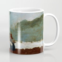 Winslow Homer1 - Two Figures By The Sea - Digital Remastered Edition Coffee Mug