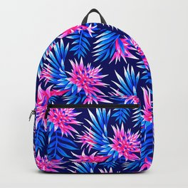 Aechmea Fasciata - Mid Blue/Pink Backpack