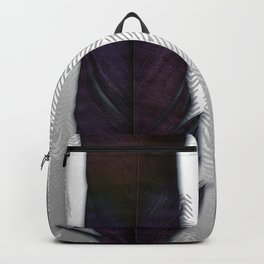 Feathers on silver Backpack