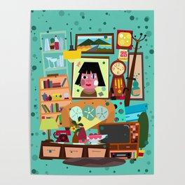 Living Retro Poster