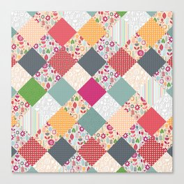 paper cut flower diamonds Canvas Print