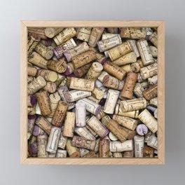 Fine Wine Corks Square Framed Mini Art Print