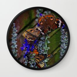 Multiple Butterflies 2 Wall Clock